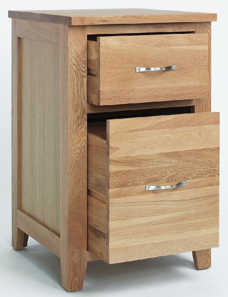 Clearance Ametis Sherwood Oak Filing Cabinet - 2 Drawer - A74