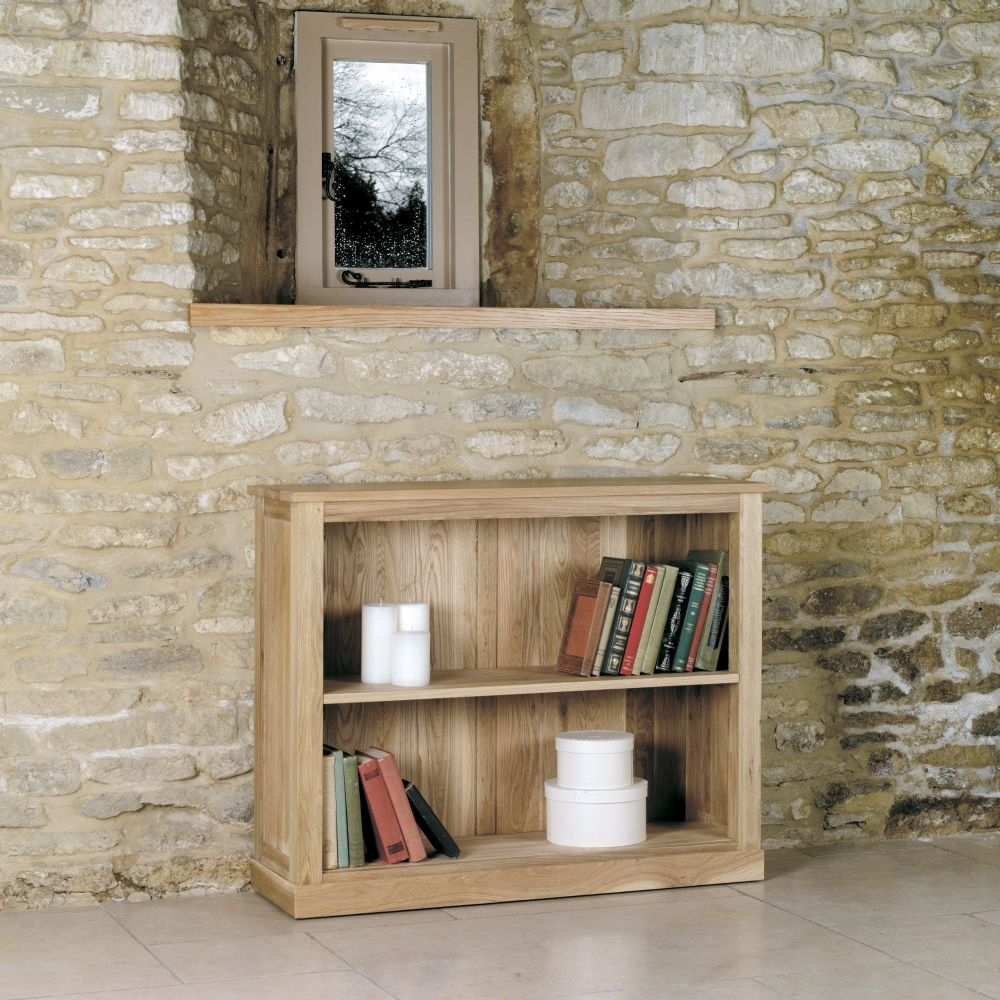 Baumhaus Mobel Oak Low Bookcase - CL-A22