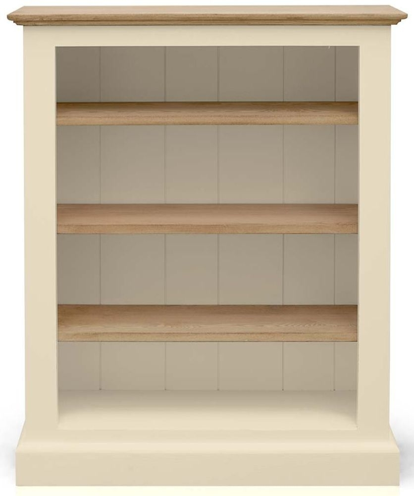 Clearance TFW Mottisfont Cream Bookcase - Low Medium 3 shelves - C76