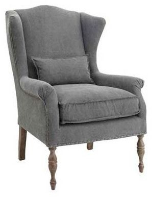 Clearance RV Astley Alita Grey Fotel Fabric Highback Armchair - A130