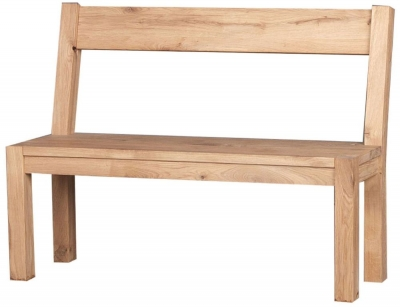 Clemence Richard Forest Oak Bench with The Back