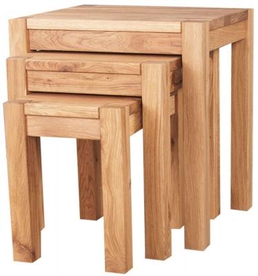 Clemence Richard Forest Oak Nest of Table