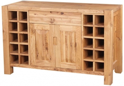 Clemence Richard Forest Oak Sideboard with Wine Rack