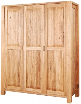 Clemence Richard Forest Oak Triple Wardrobe
