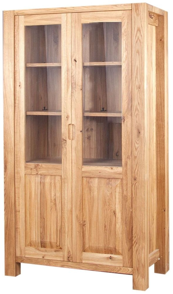 Clemence Richard Forest Oak 2 Door Display Cabinet