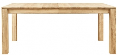 Clemence Richard Lyon 180cm Oak Dining Table with 50cm Leaves