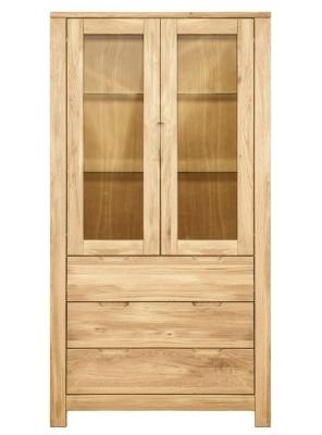 Clemence Richard Lyon Oak 2 Door 2 Drawers Cupboard
