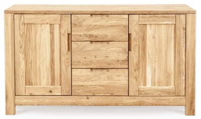 Clemence Richard Lyon Oak 3 Drawer 2 Door Sideboard 410