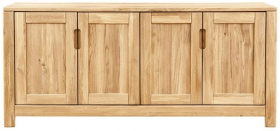 Clemence Richard Lyon Oak 4 Door Sideboard