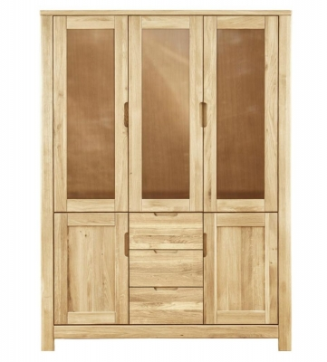 Clemence Richard Lyon Oak 5 Door 3 Drawers Cupboard