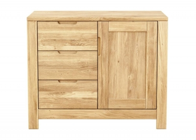 Clemence Richard Lyon Oak Small 3 Drawers 1 Door Sideboard
