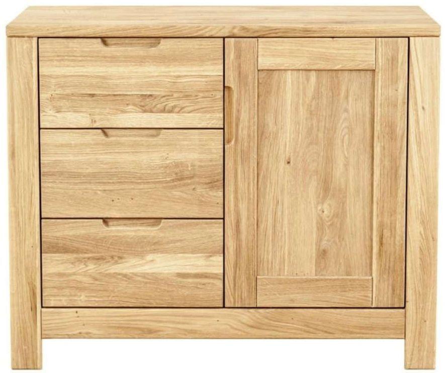 Clemence Richard Lyon Oak 1 Door Combi Small Sideboard