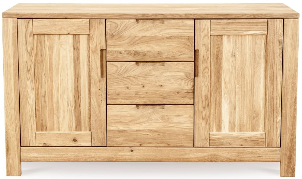 Clemence Richard Lyon Oak 2 Door 3 Middle Drawer Sideboard