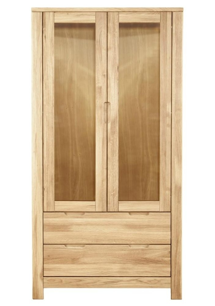 Clemence Richard Lyon Oak 2 Door 3 Drawers Cupboard