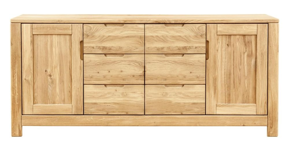 Clemence Richard Lyon Oak 2 Door 6 Drawer Sideboard
