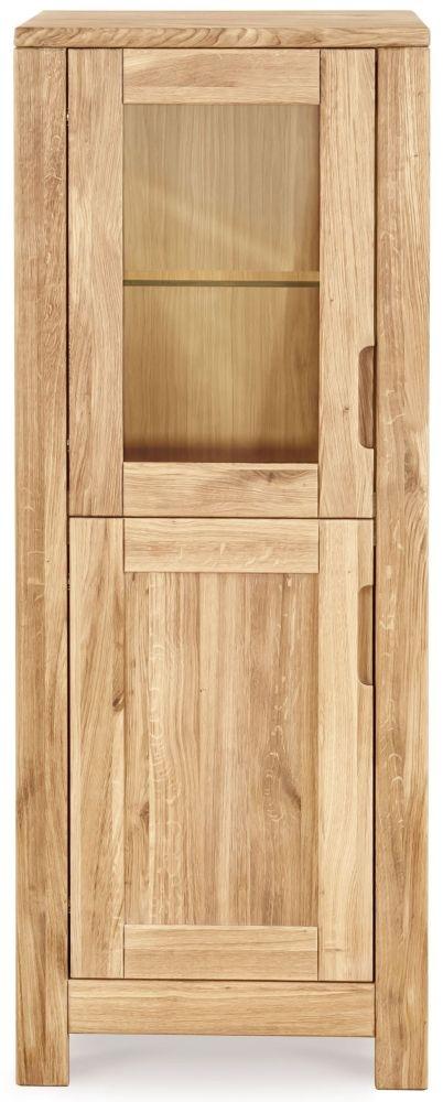 Clemence Richard Lyon Oak 2 Door Small Display Cabinet