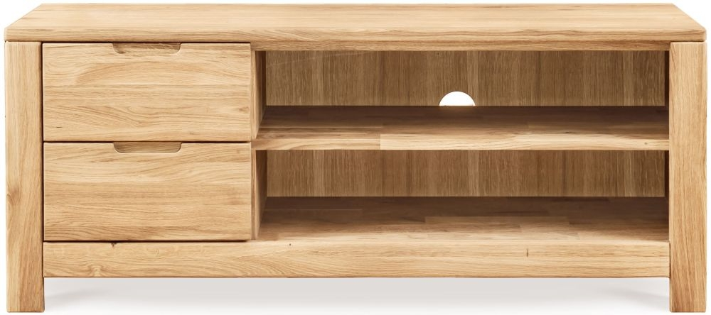 Clemence Richard Lyon Oak Large TV Unit