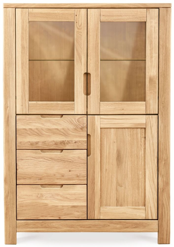Clemence Richard Lyon Oak 3 Door 3 Drawer Display Cabinet
