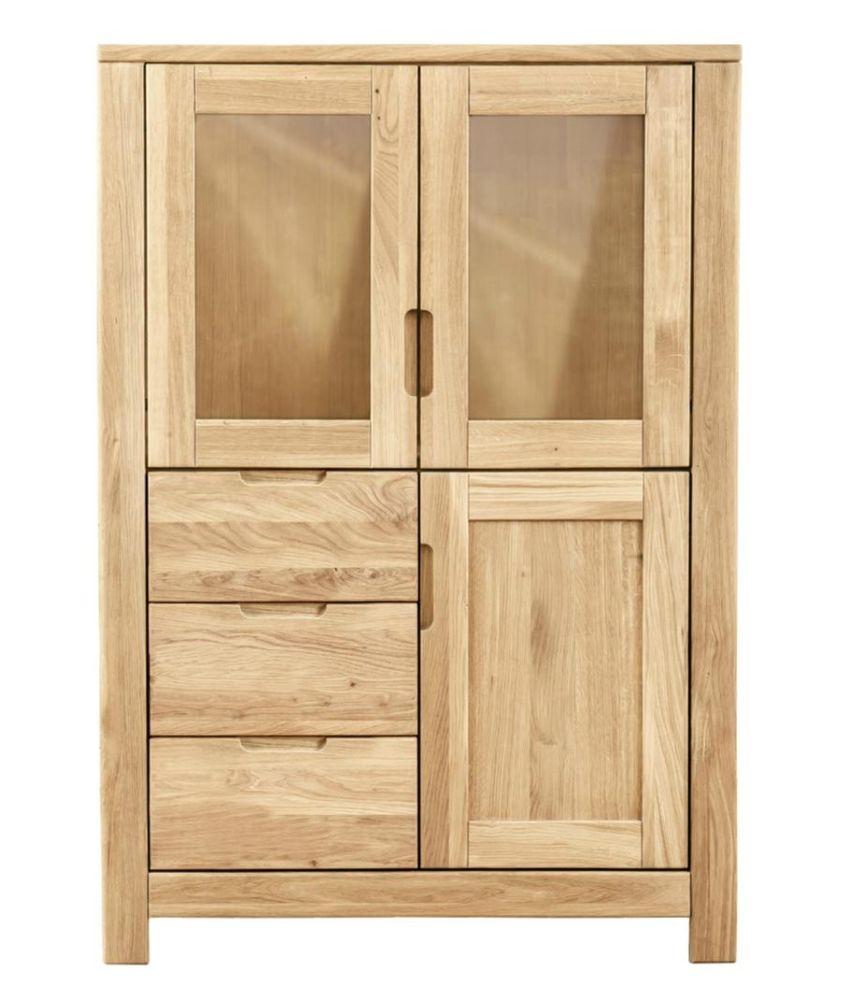 Clemence Richard Lyon Oak 3 Door 3 Drawers Cupboard