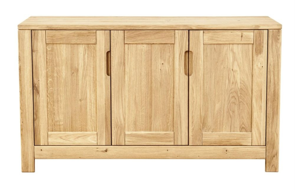 Clemence Richard Lyon Oak 3 Door Wide Sideboard