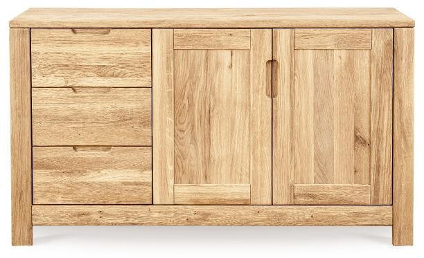 Clemence Richard Lyon Oak 3 Drawer 2 Door Sideboard 412