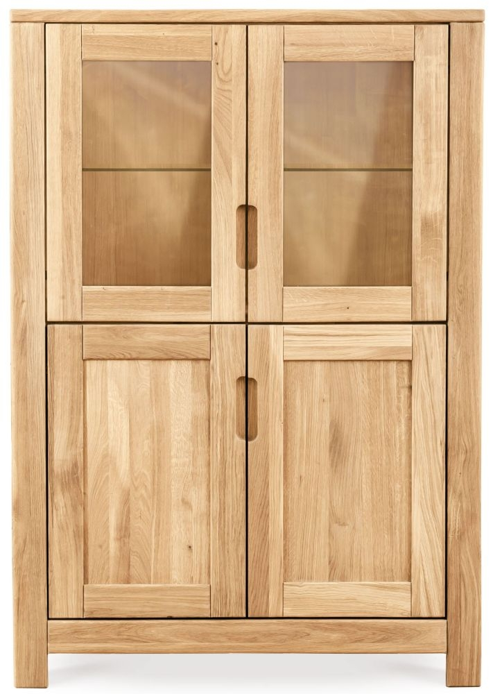Clemence Richard Lyon Oak 4 Door Display Cabinet