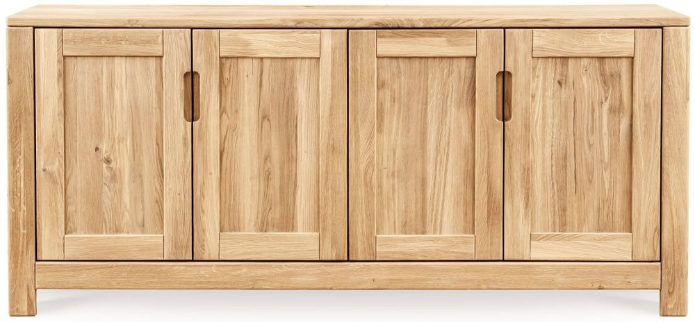 Clemence Richard Lyon Oak 4 Door Wide Sideboard