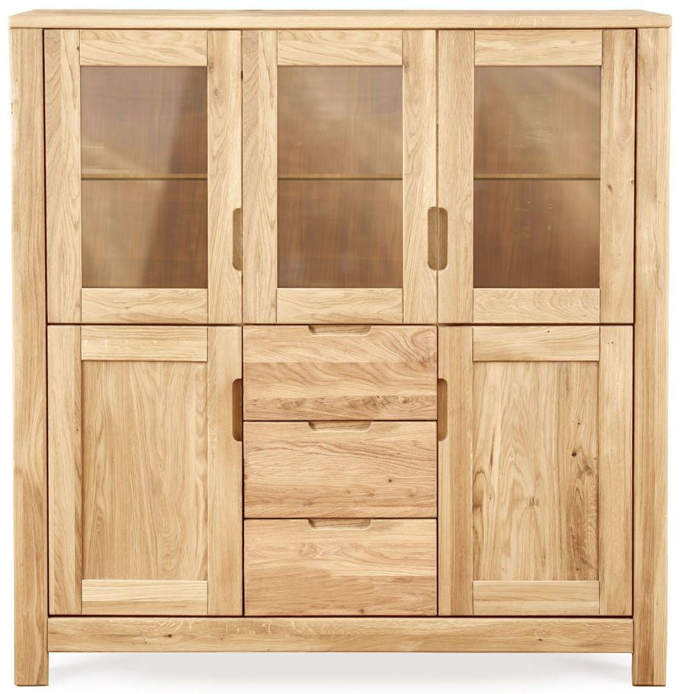 Clemence Richard Lyon Oak 5 Door 3 Drawer Display Cabinet