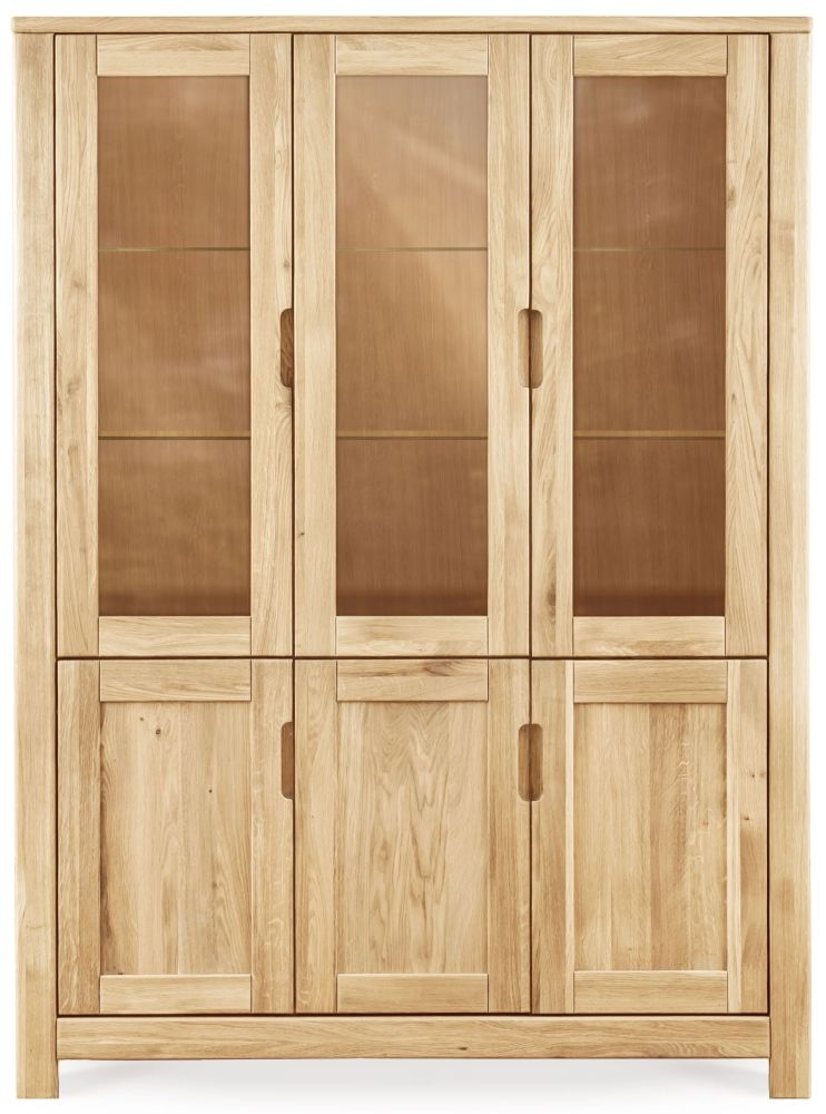 Clemence Richard Lyon Oak 6 Door Tall Display Cabinet