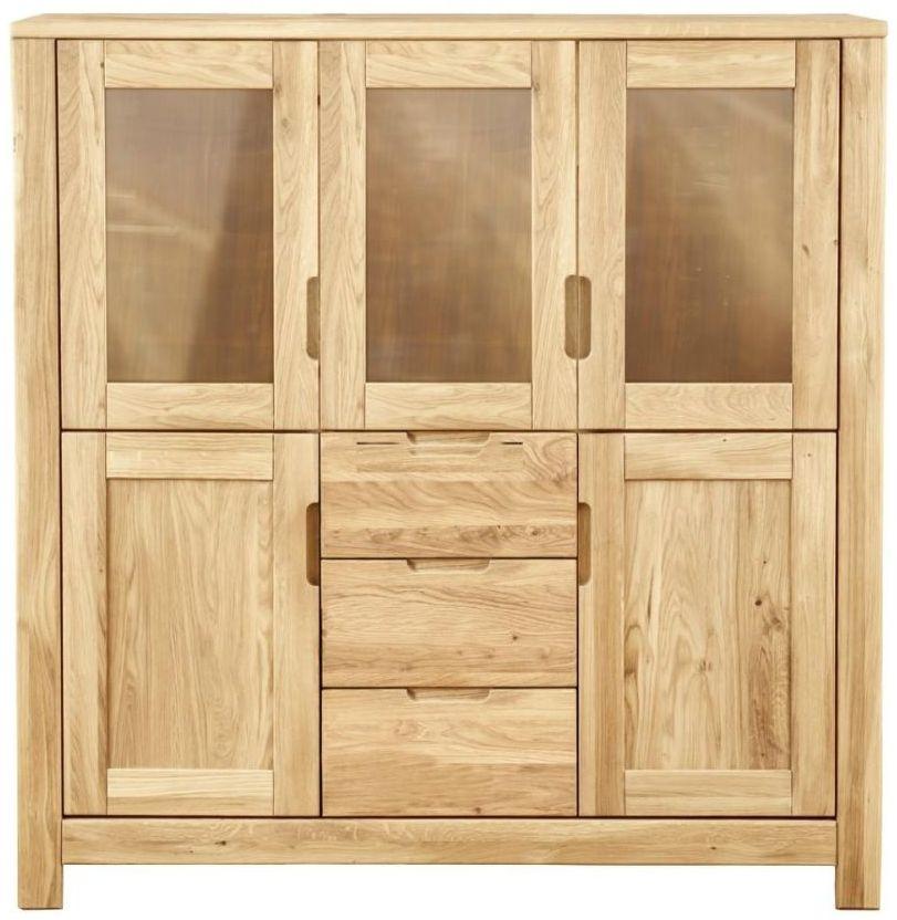 Clemence Richard Lyon Oak 5 Door 3 Drawer Large Cupboard