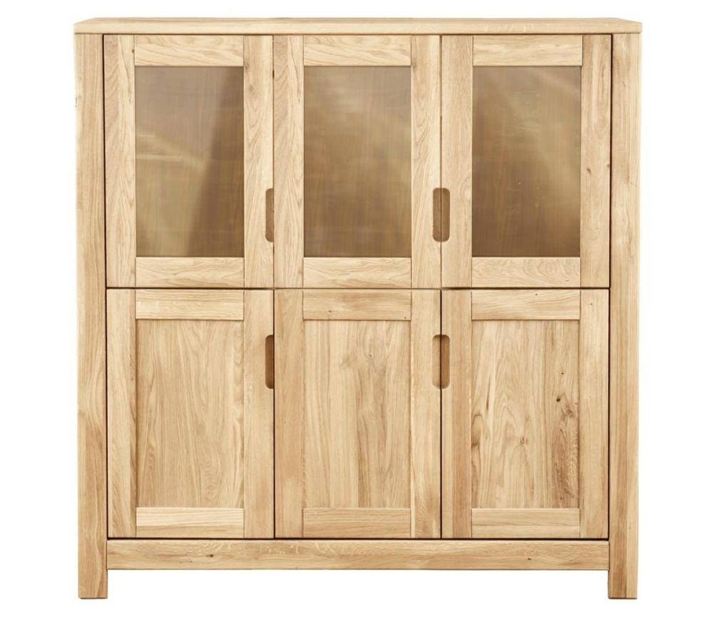Clemence Richard Lyon Oak Large 6 Door Cupboard