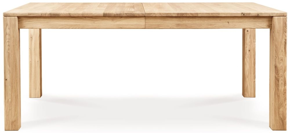 Clemence Richard Lyon Oak Small Extending Dining Table with 1 Leaves