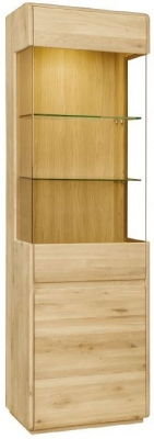 Clemence Richard Marseille Oak Left Hand Facing Display Cabinet