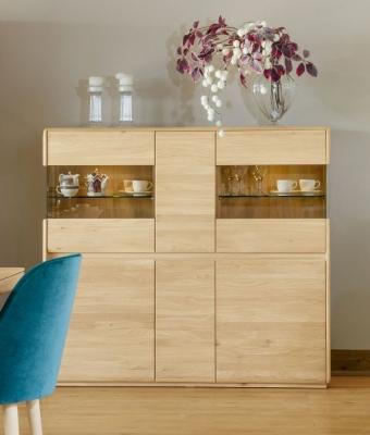 Clemence Richard Marseille Oak Wide Display Cabinet