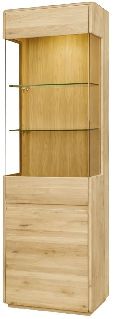 Clemence Richard Marseille Oak Right Hand Facing Display Cabinet