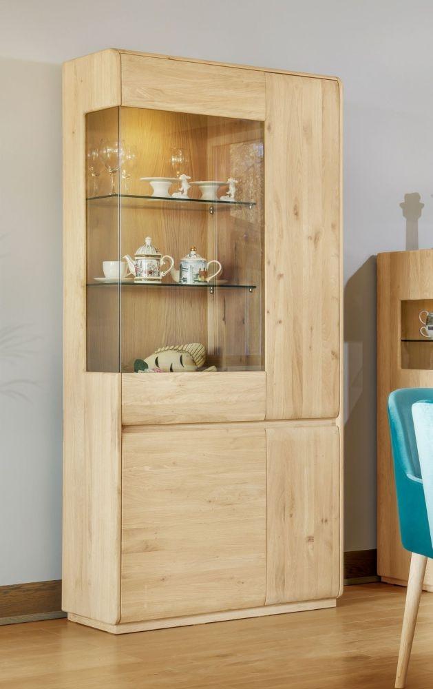 Clemence Richard Marseille Oak Tall Display Cabinet