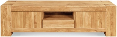 Clemence Richard Massive Oak Medium TV Unit