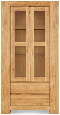 Clemence Richard Massive Oak Tall Wide Display Cabinet