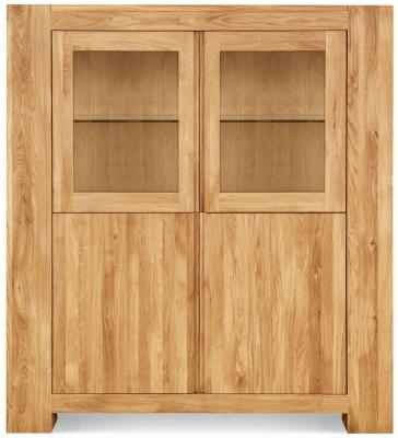 Clemence Richard Massive Oak 2 Door Display Cabinet