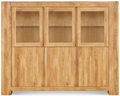Clemence Richard Massive Oak Wide Display Cabinet