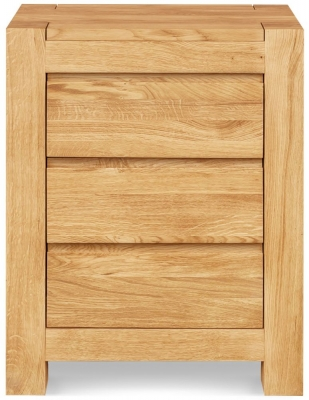 Clemence Richard Massive Oak 3 Drawer Bedside Cabinet