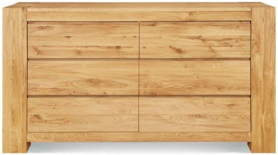 Clemence Richard Massive Oak 6 Drawer Wide Chest