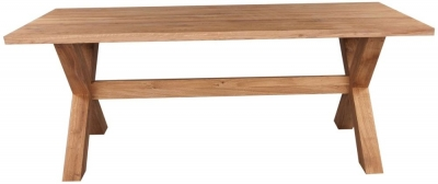 Clemence Richard Massive Oak Large Dining Table with Crossed Leg
