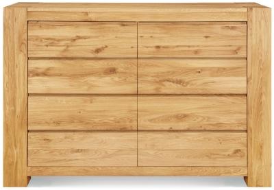 Clemence Richard Massive Oak Wide 8 Drawer Chest of Drawer