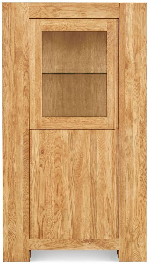 Clemence Richard Massive Oak 1 Door Display Cabinet - Type42