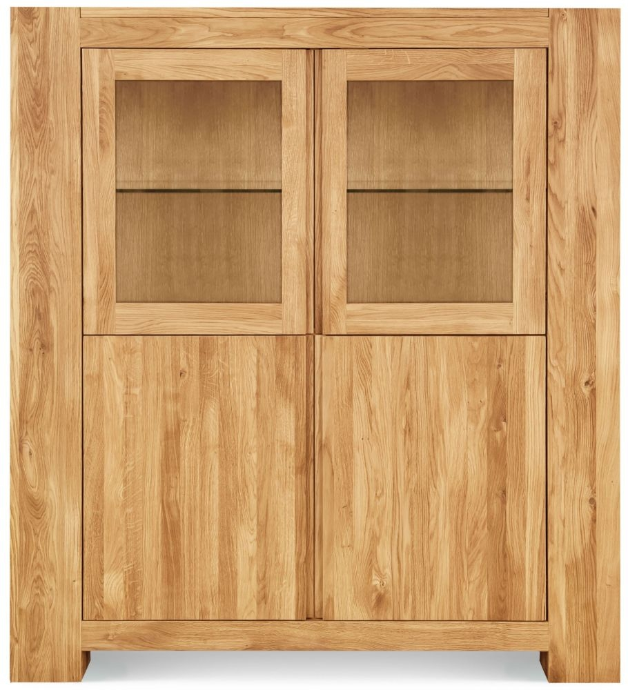 Clemence Richard Massive Oak 2 Door 2 Drawer Display Cabinet
