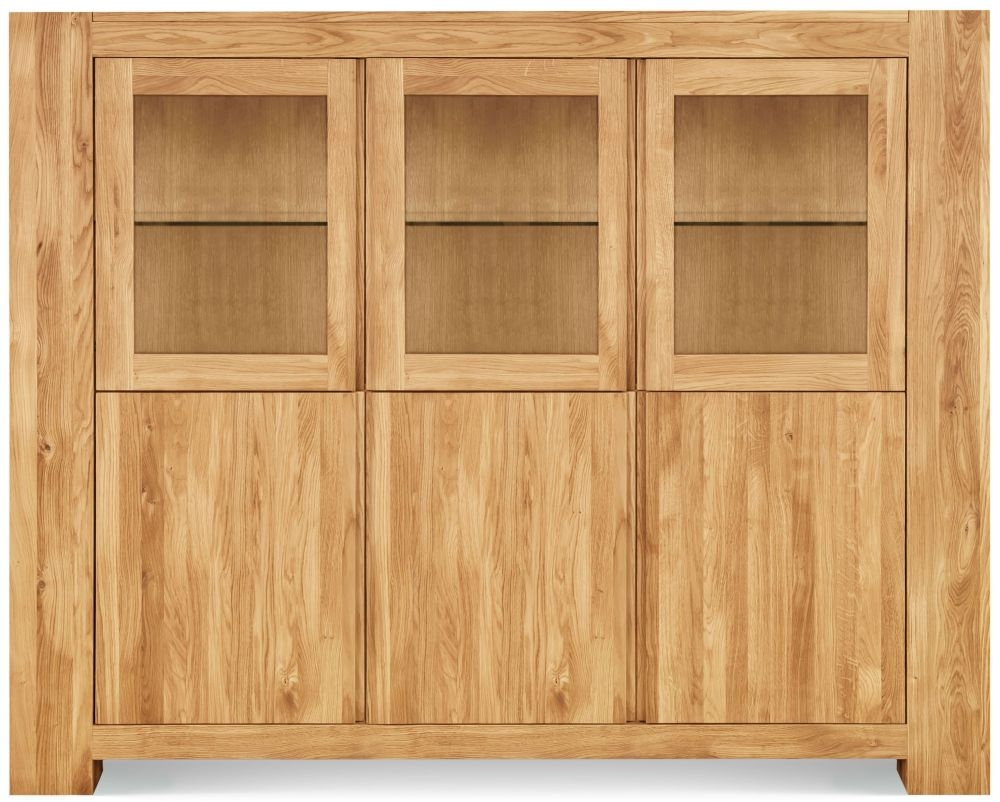 Clemence Richard Massive Oak Wide Display Cabinet