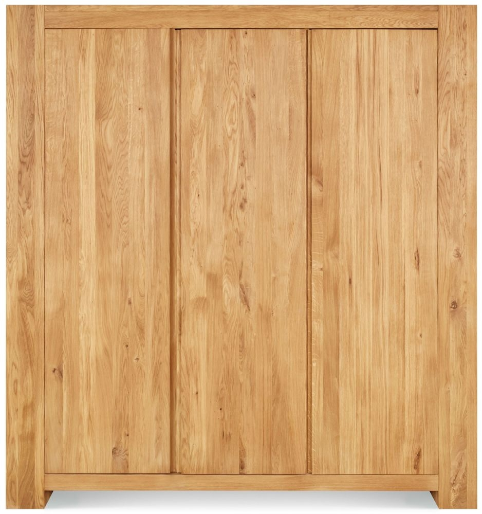Clemence Richard Massive Oak 3 Door Wardrobe
