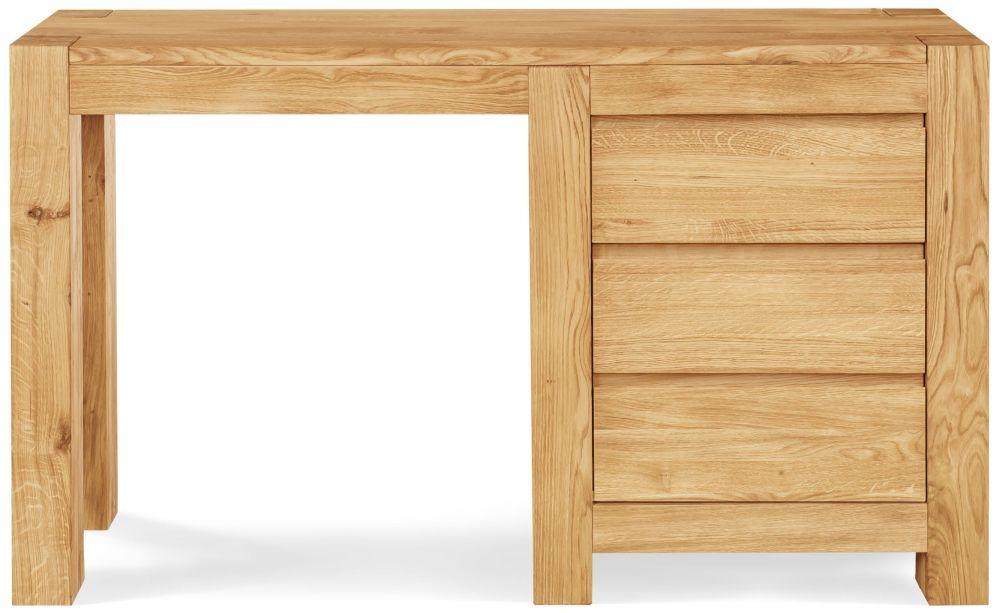 Clemence Richard Massive Oak Single Pedestal Dressing Table