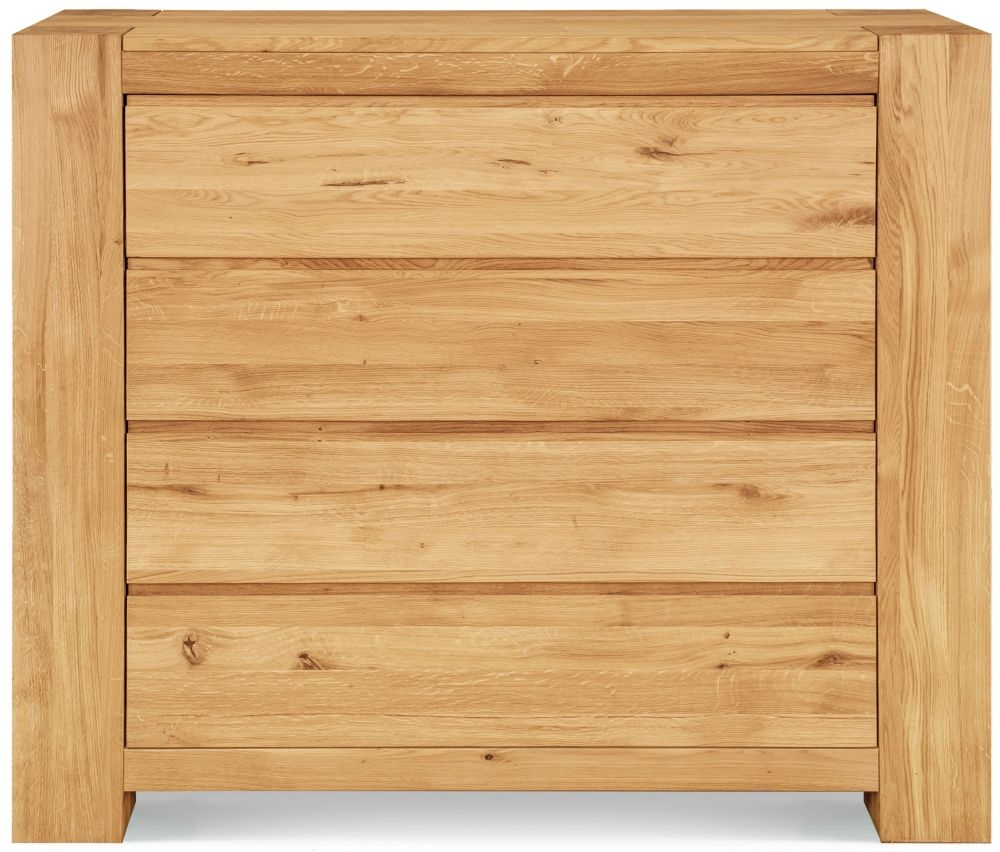 Clemence Richard Massive Oak 4 Drawer Wide Chest